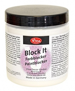 "Dažų blokatorius audiniams ""Block it"" Viva Decor 250 ml., baltos sp."